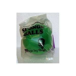 Sponge Balls   4 SS GREEN   Parlor / Magic Trick Toys & Games