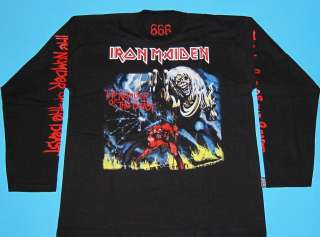 Iron Maiden   666 The Number of the Beast T shirt Long Sleeve L