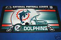 CAR LICENSE PLATE & FRAME MIAMI DOLPHINS NFL FOOTBALL
