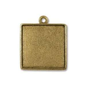 Nunn Design Antiqued Gold Plated Square 2 Sided Collage