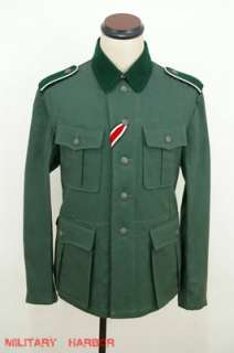 WWII German M36 EM summer HBT reed green field tunic 44R