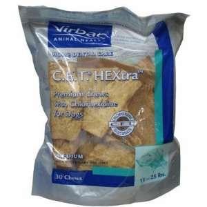 Virbac C.E.T. HEXtra Premium Dental Chews Medium 30 Count