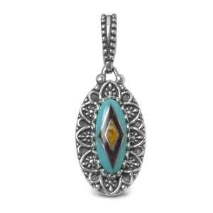 Carolyn Pollack Sterling Silver Turquoise Channel Inlay