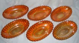 Piece ANTIQUE VINTAGE MARIGOLD GOLD CARNIVAL GLASS SERVING RELISH