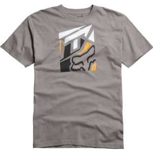 FOX CASUALS KNOCKED OUT SHORT SLEEVE T SHIRT DARK GRAY MD