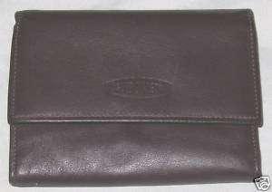Wallet Guido Vietri Billfold Purse Brown Leather Coin