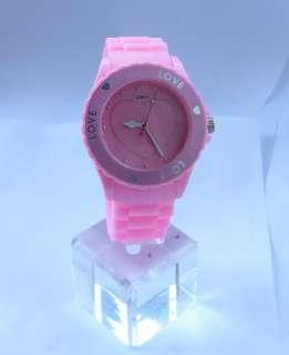 13 Colours LOVE Heart Silicone Jelly Unisex Quartz Sport Wrist Watch
