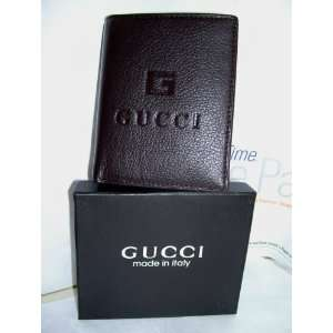 GUCCI MENs BROWN LEATHER BIFOLD WALLET NEW IN BOX by Gucci