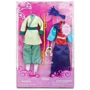 Disney Princess MULAN Doll Wardrobe & Friends Set