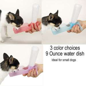 pocket size 9 oz Handi flip up Water Bottle dispenser Bowl Pet Travel