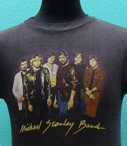 MICHAEL STANLEY BAND 80s tour MUSCLE T SHIRT rock MSB super soft thin