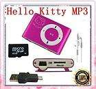 2G Hello Kitty Credit Card Size Personal  Player Pink#11 & Earphone