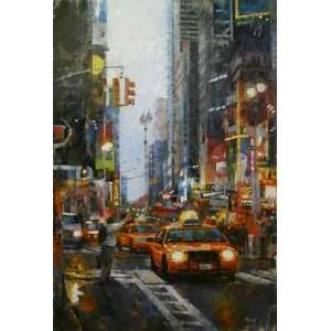 Mark Lague   Hailing a Cab Artists Proof Giclee on Paper