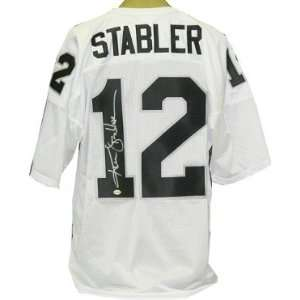 Ken Stabler Autographed/Hand Signed Oakland Raiders White