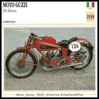 Motorcycle Collector Card 1939 Moto Guzzi 250 Albatros Bacon Slicer