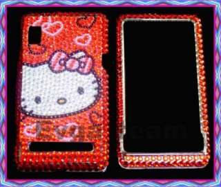 Hello Kitty Bling Case Cover For Motorola Droid A855 #3
