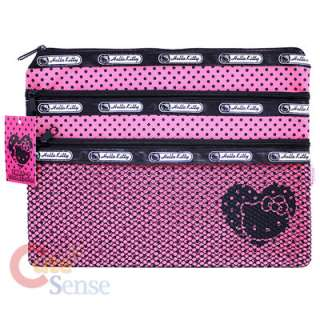 Sanrio hello Money Mesh Pouch wallet Stationary Pink 1