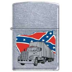 Zippo Custom Lighter   Haulin Dixie Trucker Confederate
