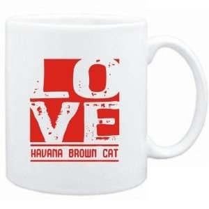 Mug White  LOVE Havana Brown  Cats