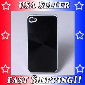 New Black Metal back cover skin housing For iPhone 4 4G