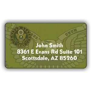 United State Army Address Label