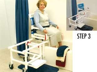 MJM PVC D118 5 SLIDE Medical Sliding Transfer Chair