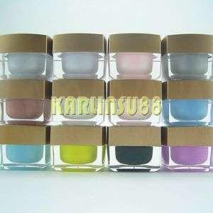 12 Solid Color Opaque Mix UV Builder Gel Nail Art Set K