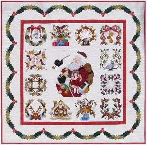 Baltimore Album Christmas Applique 13 Quilt Pattern BOM Set P3 Designs