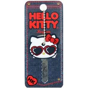 Sanrio Hello Kitty Heart Shape Sunglasses Key Cap [Apparel