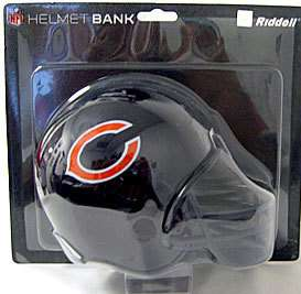 TEAM MINI FOOTBALL HELMET COIN BANK CHICAGO BEARS NFL