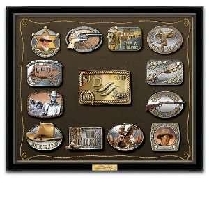 John Wayne Belt Buckle Wall Art Collection: Home & Kitchen