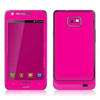 Galaxy S2 i9100 Full Body Skin Sticker Pastel Pink, Hot Pink