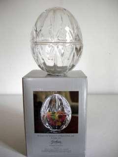 Gorham Crystal Trinket Egg Shaped Candy Jar Clear New