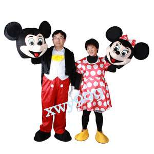 New Mickey and Minnie Mouse Mascot Costume BIG SALE