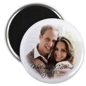 William Kate Middleton Royal Wedding 2.25 Inch Fridge Magnet Home