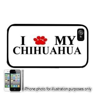 Chihuahua Paw Love Dog Apple iPhone 4 4S Case Cover Black