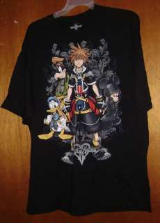 KINGDOM HEARTS SORA GOOFY DONALD MICKEY T SHIRT 2XL NEW