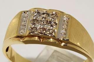 20CT MENS ROUND CUT FINE DIAMOND RING SIZE 13