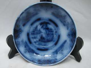 FLOW BLUE TEACUP & SAUCER PETRUS REGOUT MAASTRICHT HONC HOLLAND DUTCH