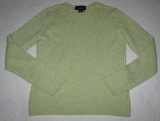 Pure Cashmere Cable Knit Sweater Top Women size Small 4/6 Light