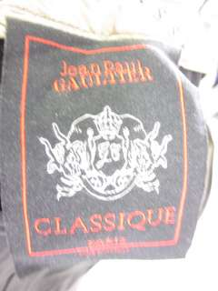 JEAN PAUL GAULTIER CLASSIQUE Black Cuffed Trousers Sz 4