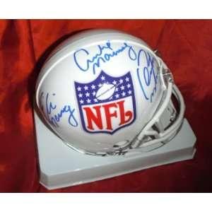 NFL Crest Mannings Hand Signed Autographed Mini Helmet