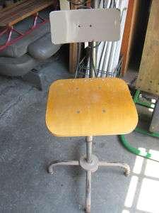 Vintage Ajustrite Stool, Backrest Adjustable Industrial E100