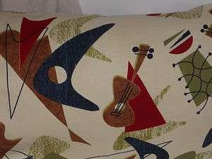 Cotton Hawaiian Barkcloth Fabric LUMBAR PILLOW ~Jetson Yellow~