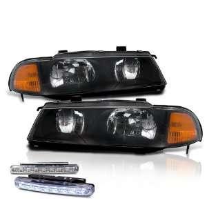 Prelude Black JDM Head Lights+led Bumper Fog Lamp Pair Set Automotive