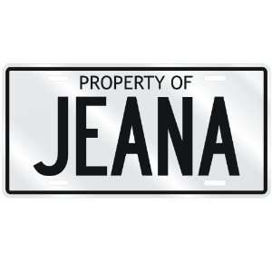 NEW  PROPERTY OF JEANA  LICENSE PLATE SIGN NAME:  Home