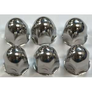 Lug Nut Covers Stainless Steel 1 12 Truck, 6pk Automotive