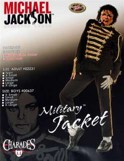 MICHAEL JACKSON Boys Military Prince JACKET + PANTS New