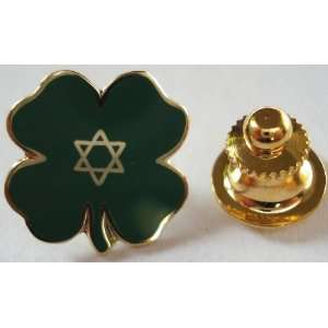 Lucky Jewish Four Leaf Clover Irish Isreal Star of David