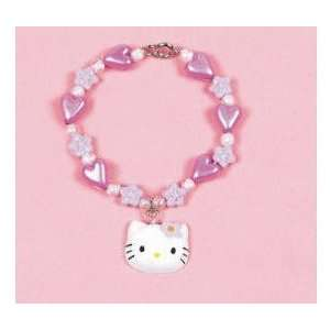 Hello Kitty Little Girls Flower Charm Bracelet Toys